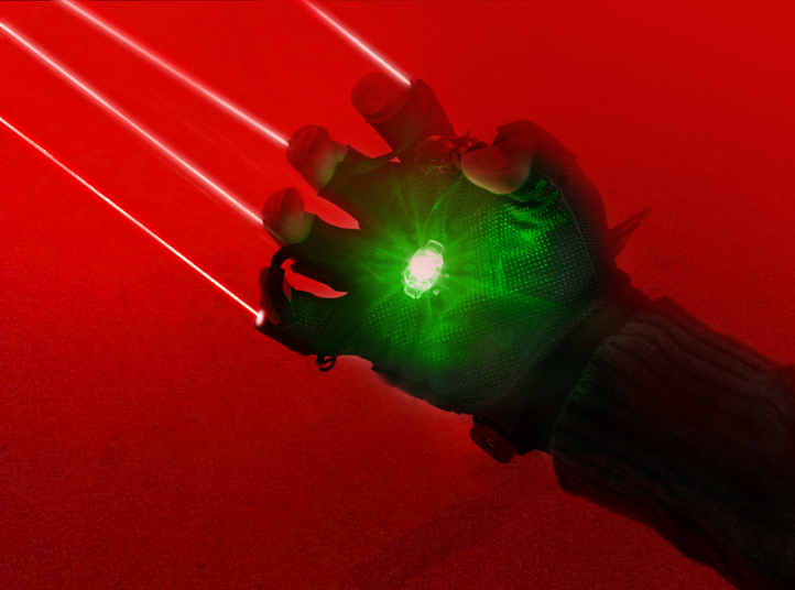 Red Laser Handschuhe