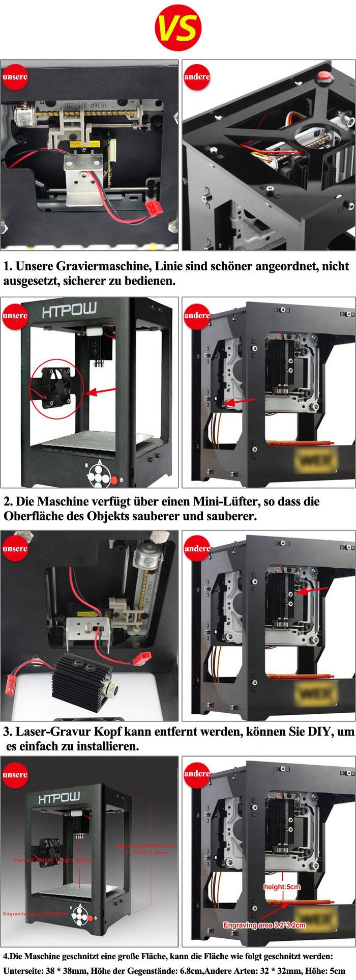 1000 mw Lasergravurmaschine