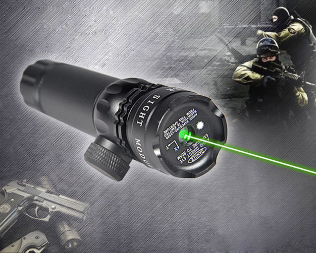 grüner laser pistole