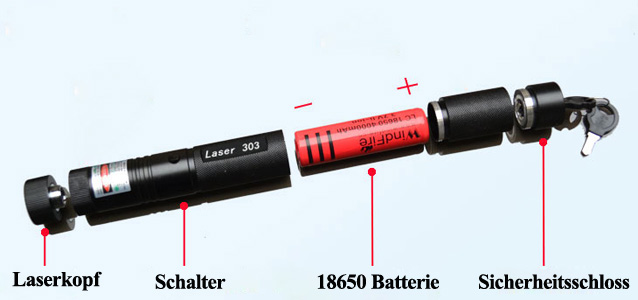 Lila laserpointer 500mw