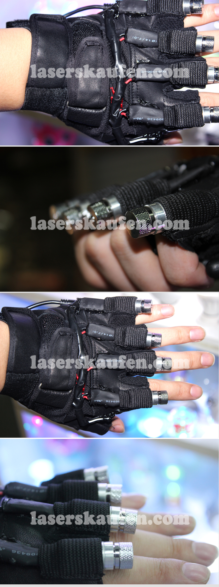 40 Licht Laserhandschuhe