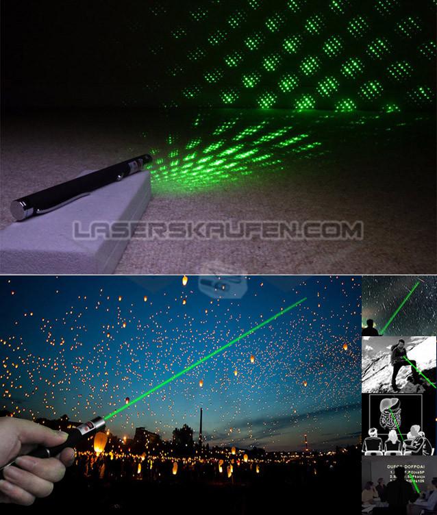 Grüner Laser Stift Sternenhimmel