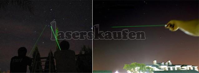 Laserpointer sternenhimmel