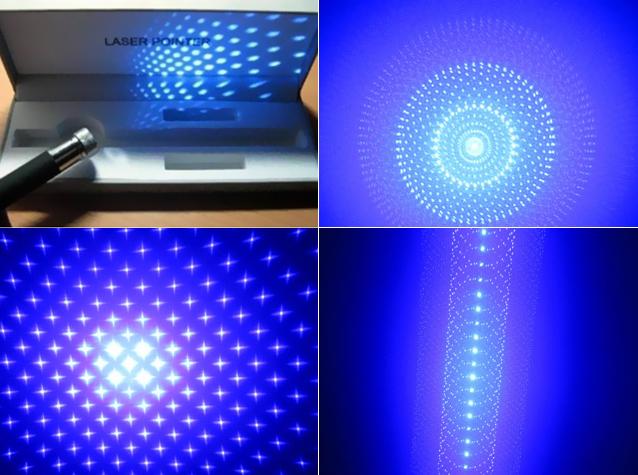 Laserpointer Blau mit Aufsatz