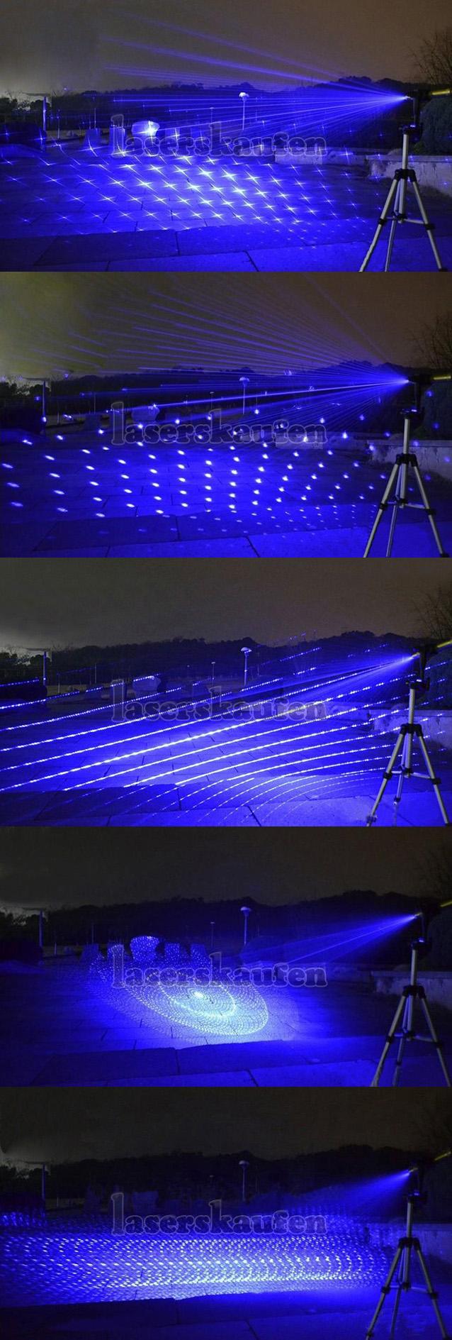 Blauer Laserpointer mit Aufsatz