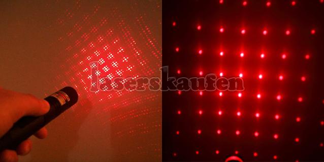 Laserpointer Rot 300mW mit Aufsätze