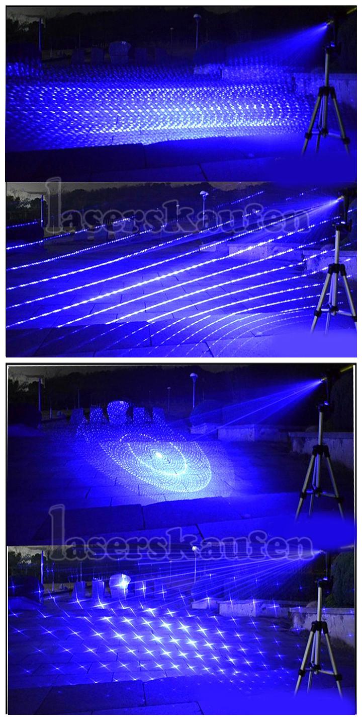 Laserpointer 3000 mW Blau 450NM